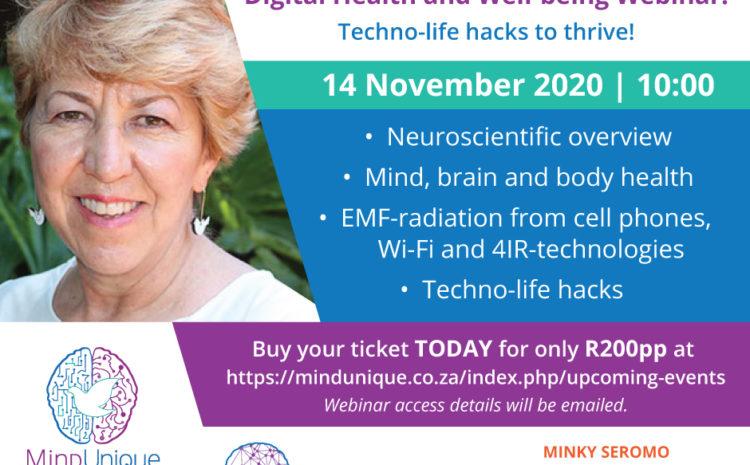 Digital Health and Well-being Webinar: Techno-life hacks to thrive